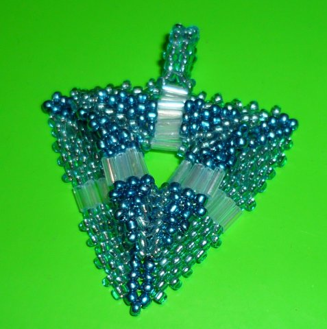Beaded Pendant Triangle. Photo 3 by Louise