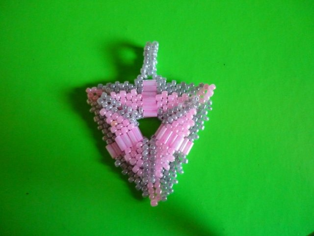 Beaded Pendant Triangle. Photo 2 by Louise
