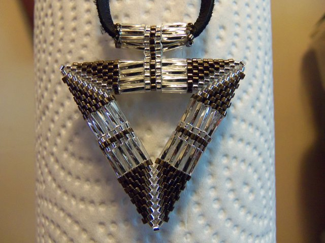 Beaded Pendant with Seed&Bugle Beads. Photo by R Adams