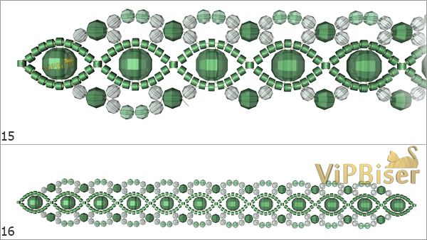 Beaded Emerald Bracelet. Tutorial. Step 5