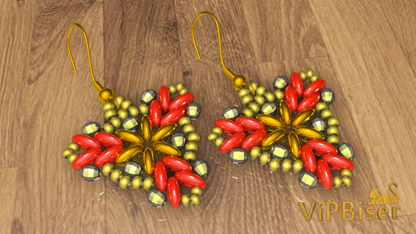 Beaded Earrings with SuperDuo and SeedBeads