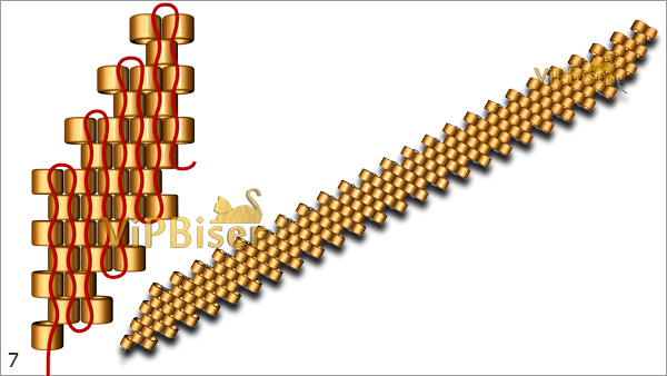 №7 Beaded Chain. Pattern