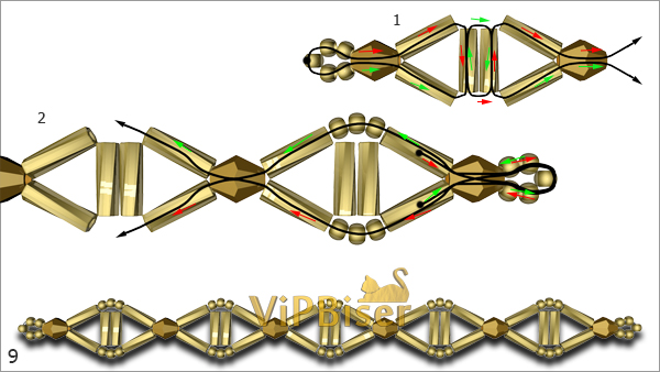 №9 Beaded Chain. Pattern