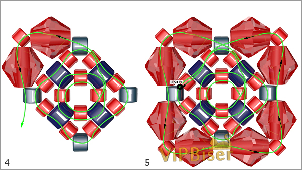 Beaded Bracelet DIANA. Tutorial. Pattern 2