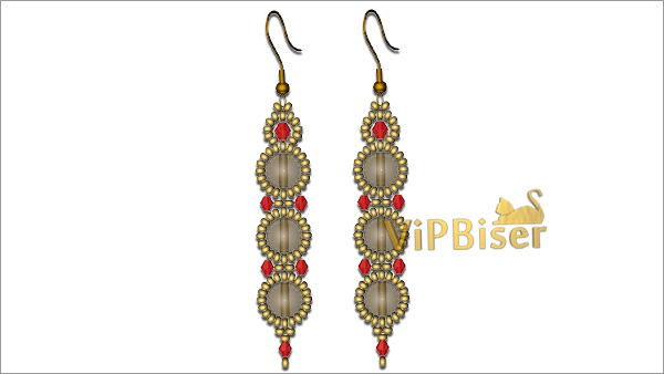 Exquisite Beaded Earrings