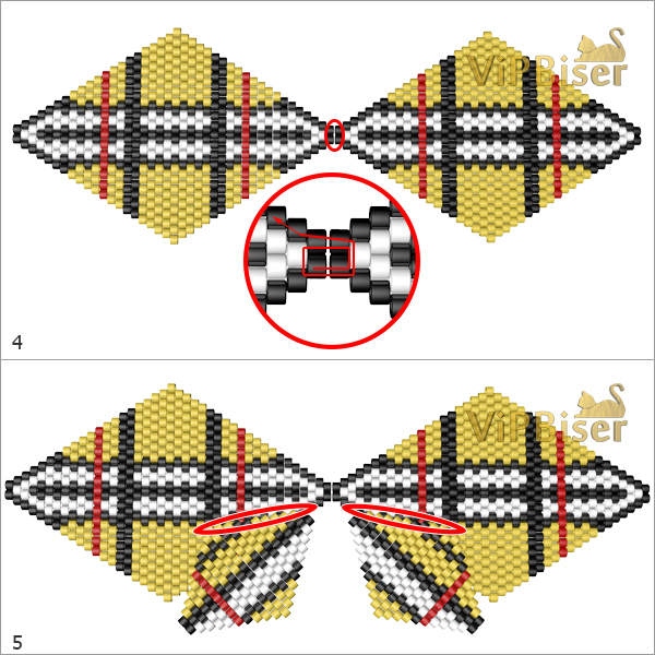 Beaded Bow Burberry. Big Bow. Pattern 3