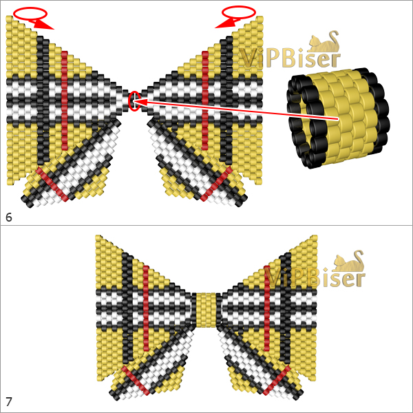 Beaded Bow Burberry. Big Bow. Pattern 4