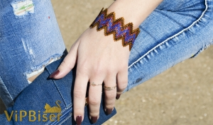 ZIGZAG Beaded Bracelet. 3D Tutorial