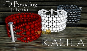 Beaded Bracelet KALILA. 3D Beading Tutorial