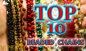 TOP 10 Beaded Chains Patterns. 3D Tutorial