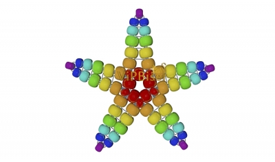 Beaded Star. 3D Tutorial