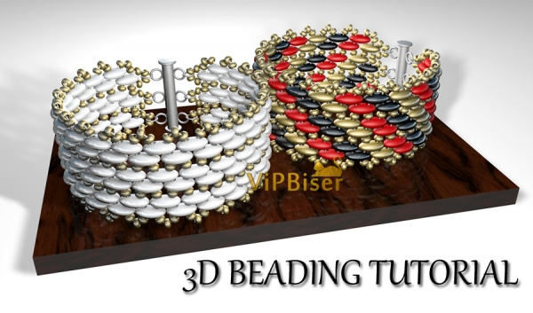 Beaded Bracelet with SuperDuo and SeedBeads. 3D Beading Tutorial