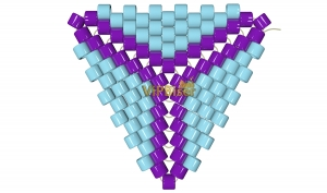 Beaded Triangle. 3D Tutorial