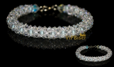 Winter Beaded Bracelet. 3D Tutorial
