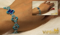 Simple Beaded Bracelet. 3D Tutorial