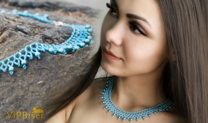 Beaded Necklace Sky. 3D Tutorial