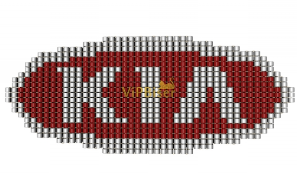 Beaded Badge, Car Emblem Kia. 3D Tutorial