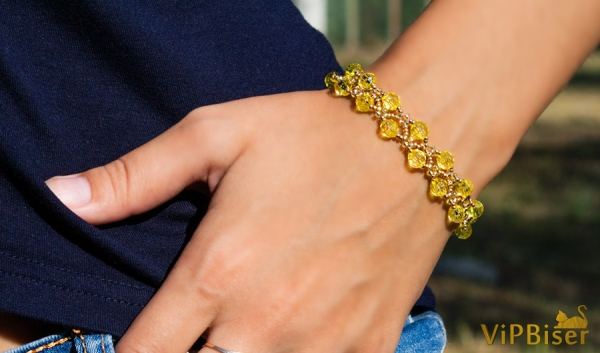 Sunny Beaded Bracelet. 3D Tutorial