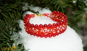 Beaded Bracelet SORBUS. 3D Tutorial